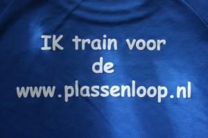 Ik train voor de www.plassenloop.nl